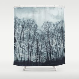 A night in the sky Shower Curtain