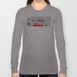 I Love You - Geek Love Keyboard Long Sleeve T-shirt