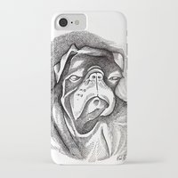 steve mcqueen iPhone & iPod Cases featuring McQueen by Mark Holden