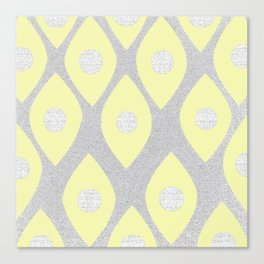 Eye Pattern Yellow Canvas Print