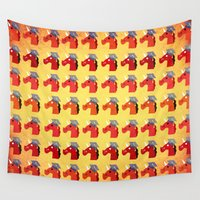 unicorns Wall Tapestries featuring Graduate Unicorns by That's So Unicorny