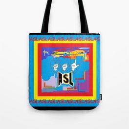 I Open Heart ASL Tote Bag