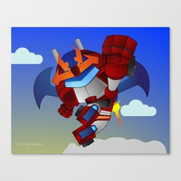 Atomic Fighter R-saviour Canvas Print