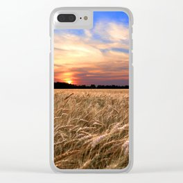 Sunset Harvest Clear iPhone Case