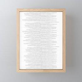 Lines on lines on stripes on lines Framed Mini Art Print