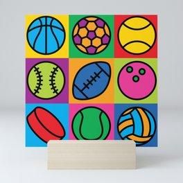 Sport Ball Pop Art Mini Art Print