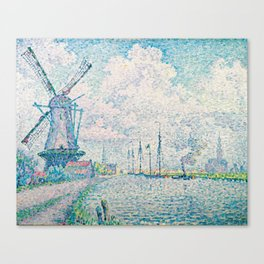 Paul Signac Canal of Overschie Painting Canvas Print
