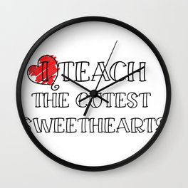 Teacher Valentine's Day Funny Teachers Gifts Men Women Wall Clock