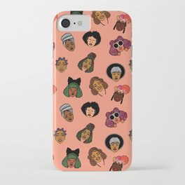 Black Hair Magic (Coral) iPhone Case