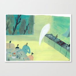 Ghost Does Dishes Canvas Print