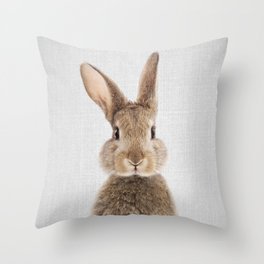 Rabbit - Colorful Throw Pillow