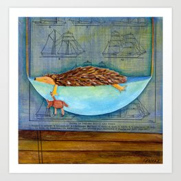 hedgehog dreams Art Print