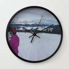 Keystone Mountain Panorama Wall Clock