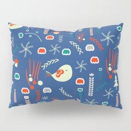 Christmas pattern with cute birds Pillow Sham