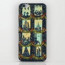 Christmas in the Windows Blue iPhone Skin
