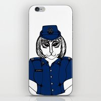 police iPhone & iPod Skins featuring Police Kitty by Sofy Rahman