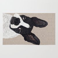 boston terrier Area & Throw Rugs featuring Boston Terrier 2015 by ArtLovePassion