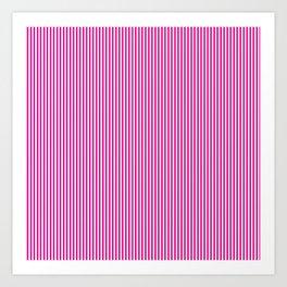 Pink Pinstripes Art Print