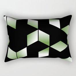 Elegant Origami Geometric Effect Design Rectangular Pillow