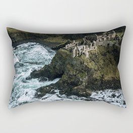Castle ruin by the irish sea - Landscape Photography Rectangular Pillow