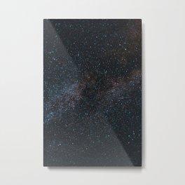 Glitter Stars Metal Print