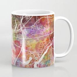 Saratoga Springs map Coffee Mug