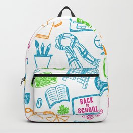 Back to school pattern Backpack