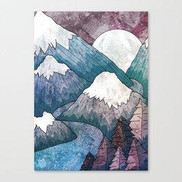 A cold river canyon Canvas Print