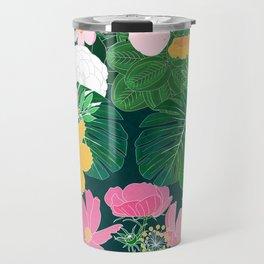 Stylish exotic floral and foliage design Travel Mug