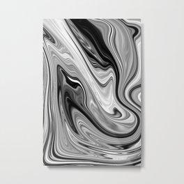 VIOLET - BLACK Metal Print