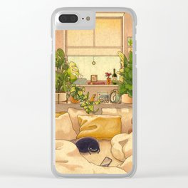 Cozy Space Clear iPhone Case
