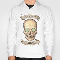 forever young Hoodies featuring Forever young by Glutamat Studio