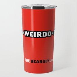 BEARD + WEIRDO = BEARDO. Travel Mug
