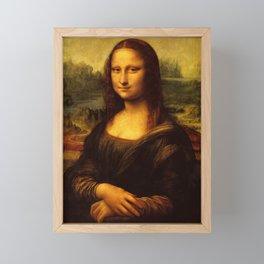 Leonardo Da Vinci Mona Lisa Painting Framed Mini Art Print