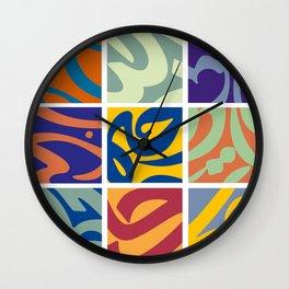 Persian Typography Wall Clock