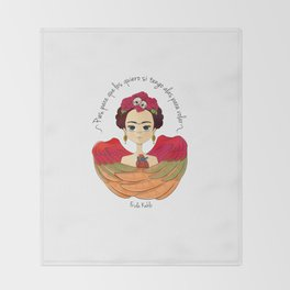 Frida Kahlo (spanish) Throw Blanket