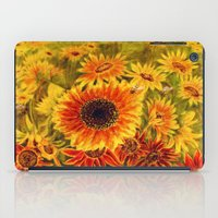 sunflowers iPad Cases featuring SUNFLOWERS by Vargamari