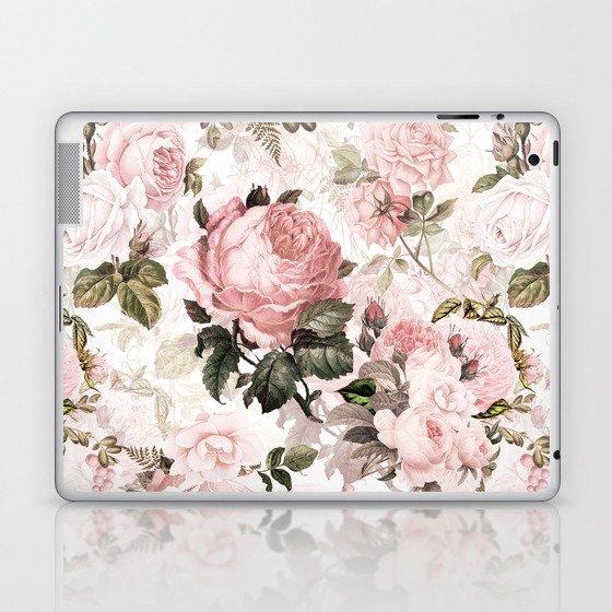 Vintage & Shabby Chic - Sepia Pink Roses Laptop & iPad Skin