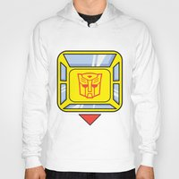 transformers Hoodies featuring Transformers - Bumblebee by CaptainLaserBeam