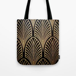 Art nouveau Black,bronze,gold,art deco,vintage,elegant,chic,belle époque Tote Bag
