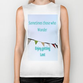 For Those Who Wander Biker Tank