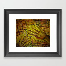Hand with pattern  Framed Art Print