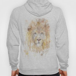 "Watercolor Painting of Picture ""African Lion"" Hoody"
