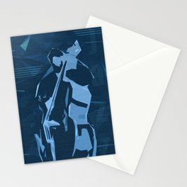 Jazz Contrabass Poster Stationery Cards
