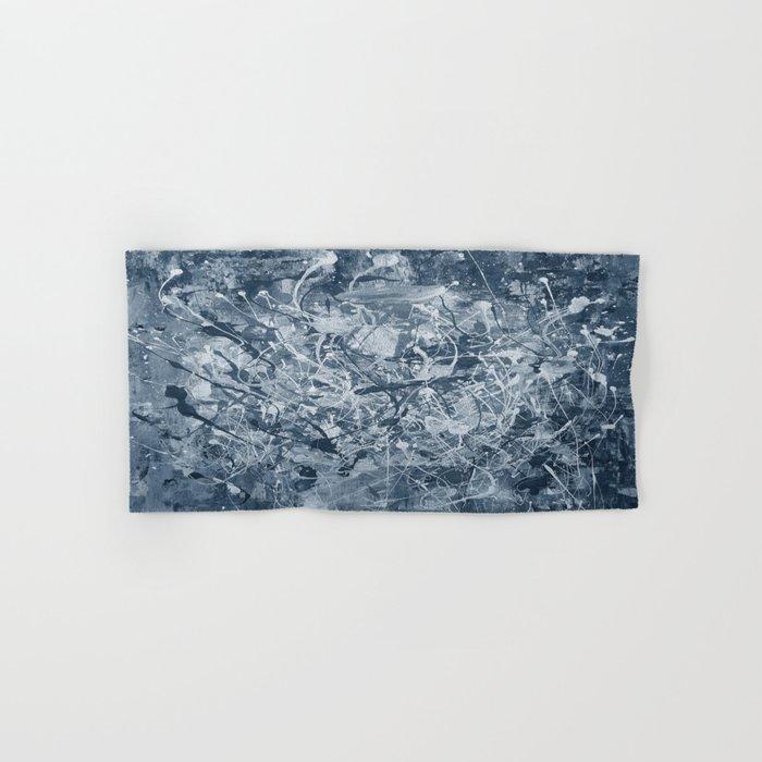 Abstract black painting Hand & Bath Towel