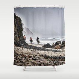 Surfer Boys, Leucadia, California Shower Curtain