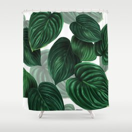 tropical green pattern Shower Curtain