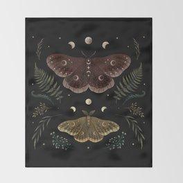 Saturnia Pavonia Throw Blanket