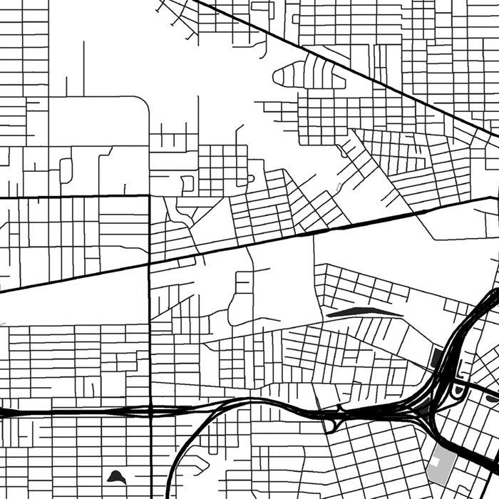 Jacksonville Map Gray Leggings