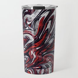 Red and black abstraction Travel Mug